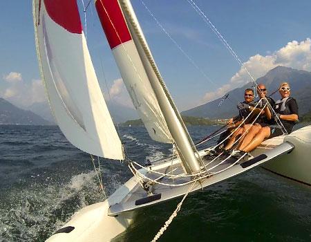 Katamaran segeln  Segeln - WSC Domaso
