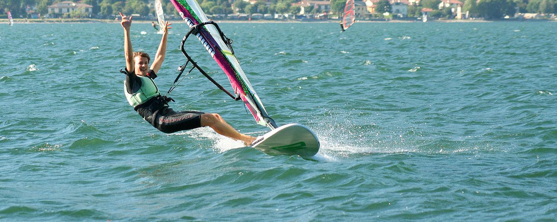 Surfen am Comer See