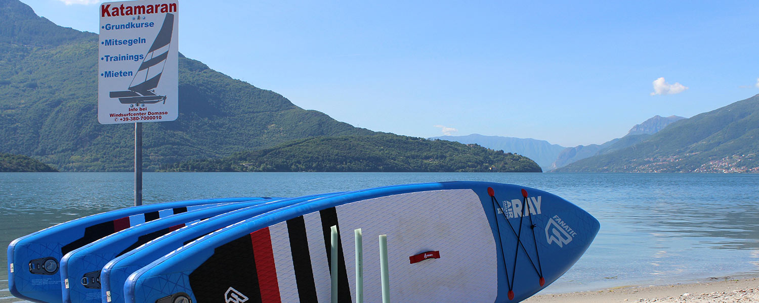 SUP - Stand Up Paddeln am Comersee
