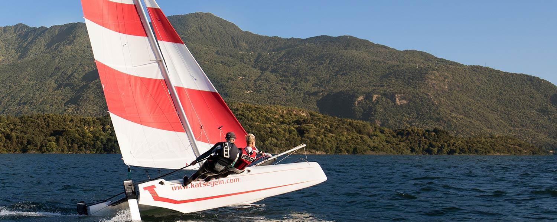Katamaran segeln am Comersee